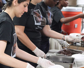 Volunteer at a Soup Kitchen