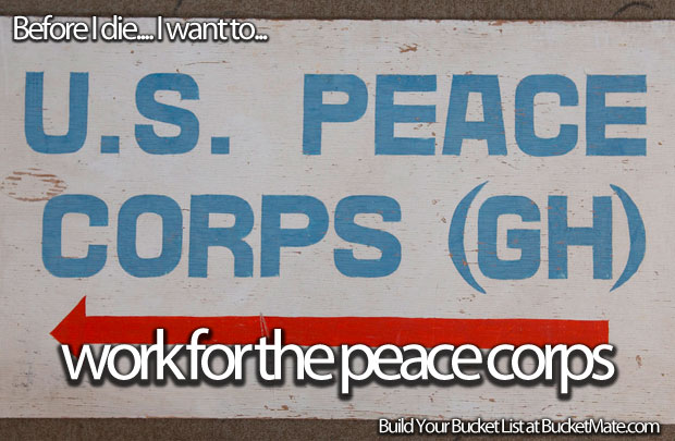 Work for Peace Corps